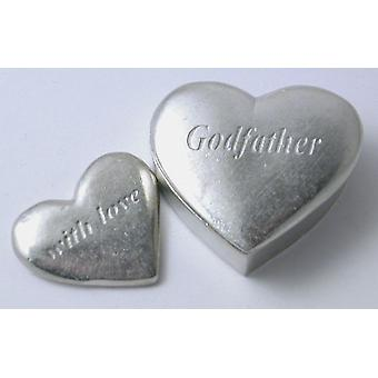 Godfather - Pewter Heart Box with Small Heart