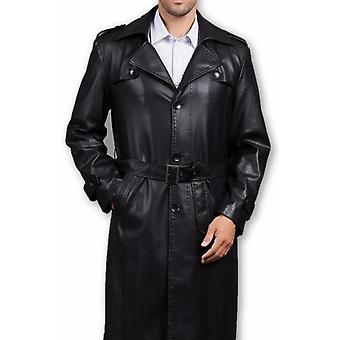 Mens Executive, Premio 3 knop, trenchcoat leder