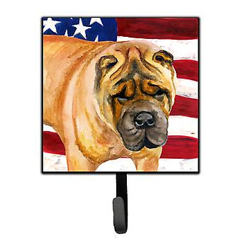 Carolines Treasures  BB9661SH4 Shar Pei Patriotic Leash or Key Holder