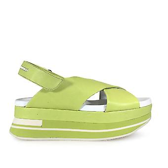 Paloma Barceló ladies SHO2NAY1 green leather sandals