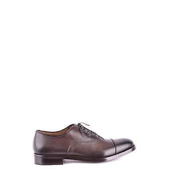 Doucal's men's MCBI102011O Braun leather lace-up shoes