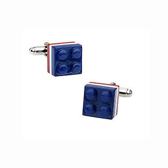 Mens Ladies Cufflinks Multi Colour Lego Build Block Game Toy Unique Gift
