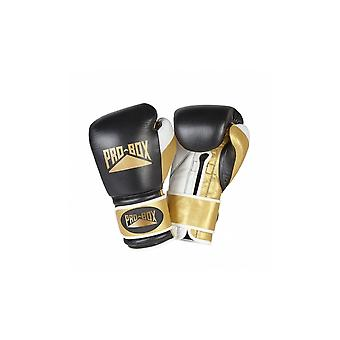 Pro Box Special Edition 'Pro Spar' Leather Boxing Gloves - Black Gold