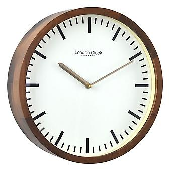 32 cm Walnut Finish Wooden Case Wall Clock