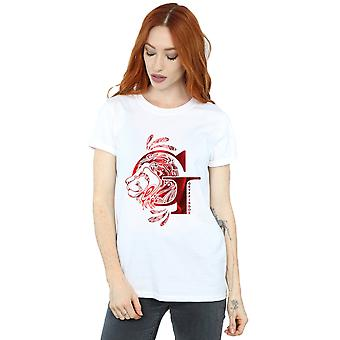 Harry Potter Women's Gryffindor Lion Boyfriend Fit T-Shirt