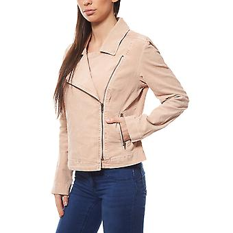 B.C.. best connections by heine ladies of biker corduroy jacket pink