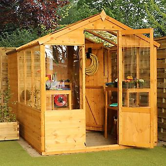 Mercia Traditional Wooden Apex Greenhouse Combi Shed 10x6