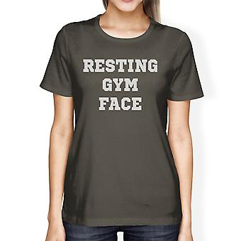 RGF Womens Cool Grey Trendy Design Workout T-Shirt Short Sleeve Tee