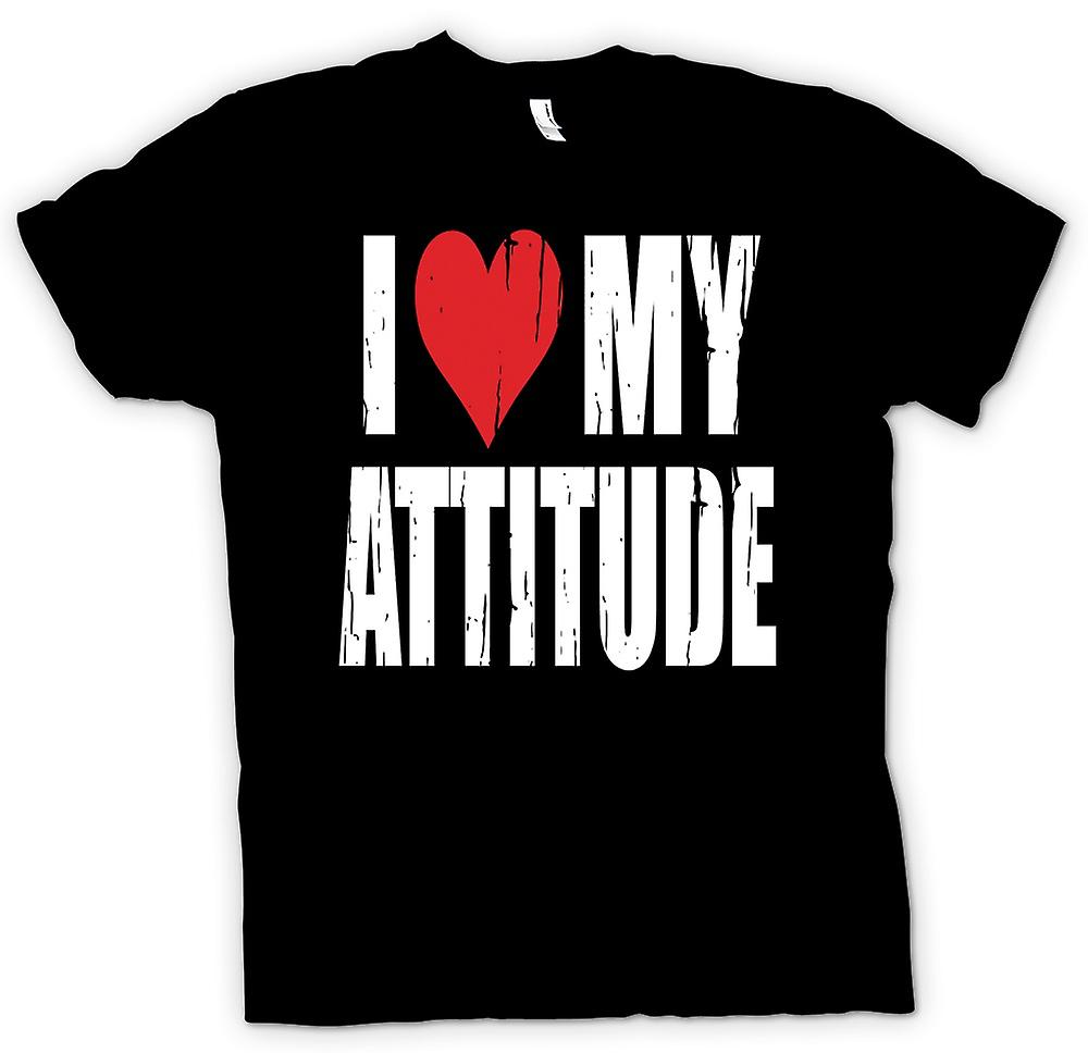 Mens T-shirt - I Love My Attitude - Funny