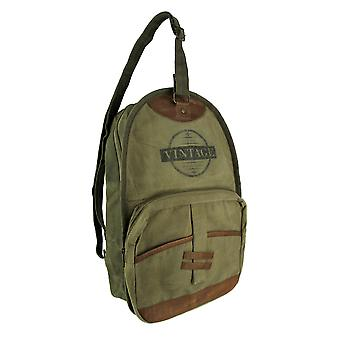 Vintage Upcycled Canvas Sling Backpack