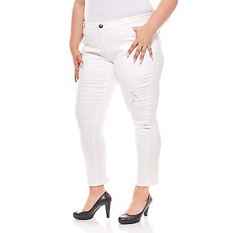 Boyfriend pants used look plus size white B.C. best connections