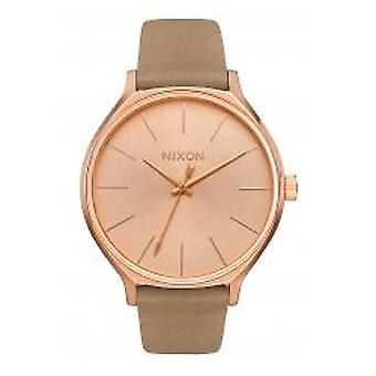 Nixon The Clique Leather Rose Gold / Gray (A1250-2239)