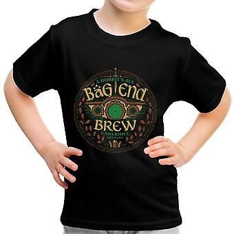 The Hobbit Bag End Brew Ale Kid's T-Shirt