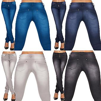 Ladies slim fit jeans cropped trousers skinny tube jeans low waist Stonewashed hot