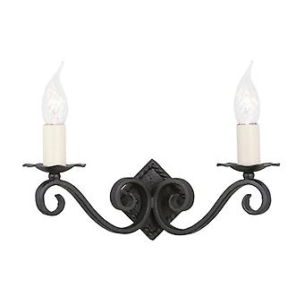 Presbytère 2lt Wall Light A Black
