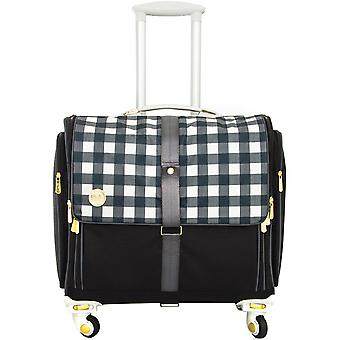 360 Crafter's Rolling Bag-Black Plaid