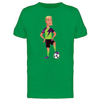 Happy Football Team Player Tee Men's -Image by Shutterstock