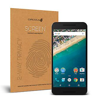 Celicious Privacy 2-Way Anti-Spy Filter Screen Protector Film Compatible with Google Nexus 5X