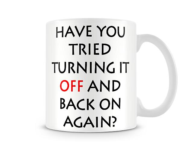 Turn Off Printed Mug