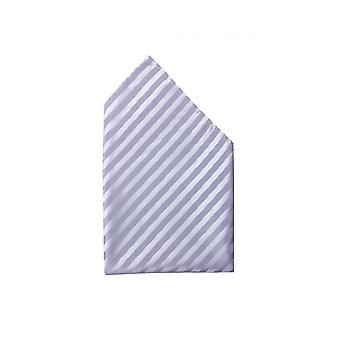 Silverware fine gloss white narrow striped handkerchief wedding Fabio Farini