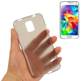 Schutzhülle Case Ultra Dünn 0,3mm für Handy Samsung Galaxy S5 / S5 Neo grau Transparent