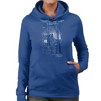 Slinky Patent Blueprint Women's Hooded Sweatshirt