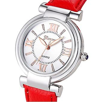Ladies Childrens Kids Girls Analogue Smart Rose Gold Watch Watches White Red Strap
