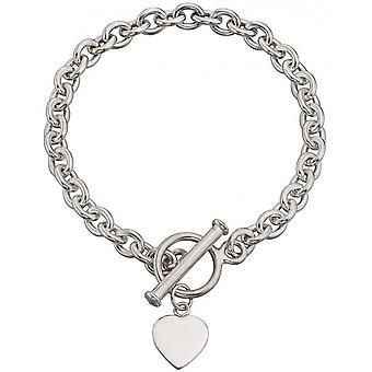 Beginnings Heart Charm Toggle Bracelet - Silver
