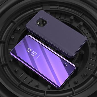 For Samsung Galaxy J4 plus J415F clear view mirror mirror smart cover purple protective case cover pouch bag case new case wake UP function