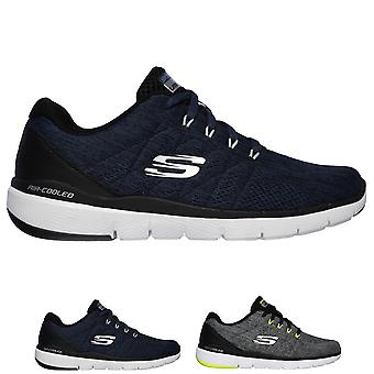 Mens Skechers Flex Advantage 3.0 Stally Lightweight Walking Gym Trainers