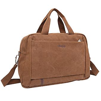 Brown weekend bags made or shoulder bag made of durable fabric
