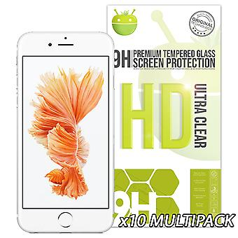 10 Pack of Glass Screen Protectors - iPhone 6/6s