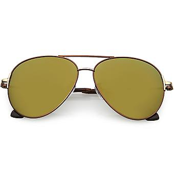 Oversize Aviator Sunglasses Metal Arms Polarized Lens 59mm