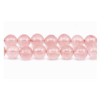 ستراند الكوارتز الوردي الكرز 45 + 8 مم عادي الخرز جولة GS1651-3