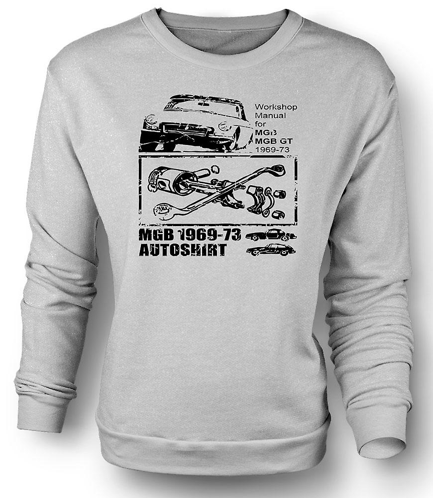 Mens Sweatshirt MGB GT 69-73-Classic Car