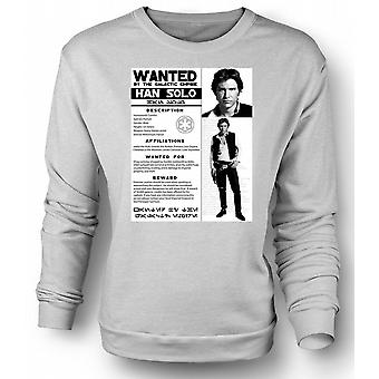 Womens Sweatshirt Star Wars Han Solo Wanted - Poster