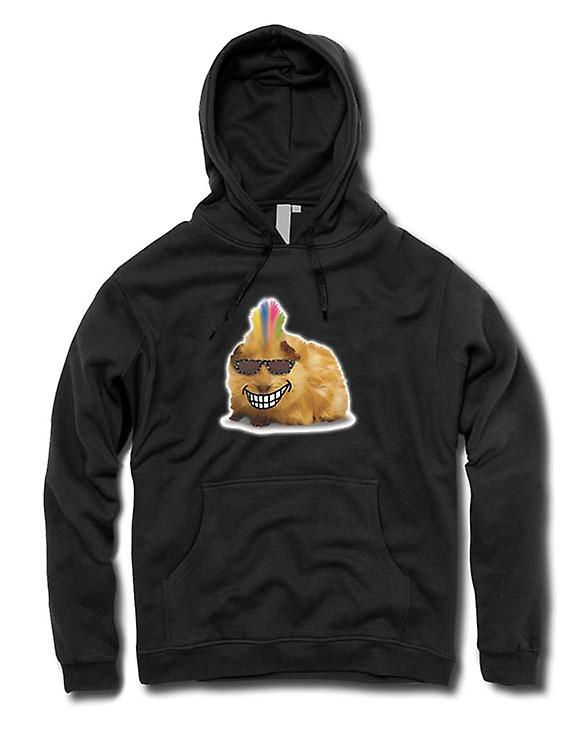 Hombres sudadera con capucha - Mohawk Styled Guinea Pig