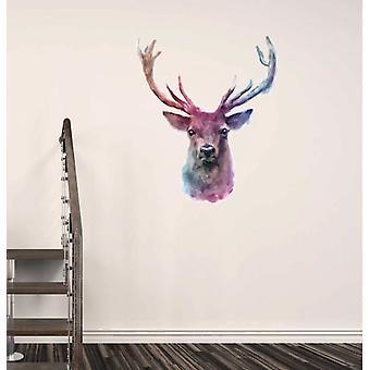 Etiqueta de la pared de color agua color ciervo