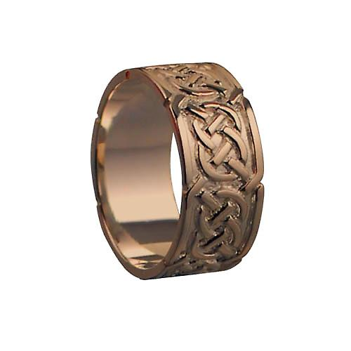 9ct Rose Gold 8mm Celtic Wedding Ring Size N