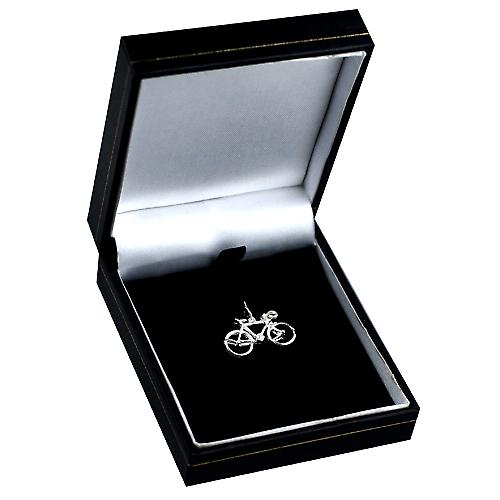 Silver 13x22mm Bicycle Charm or Pendant