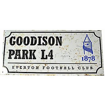 Everton FC Goodison Park retro look metal street sign (bb)