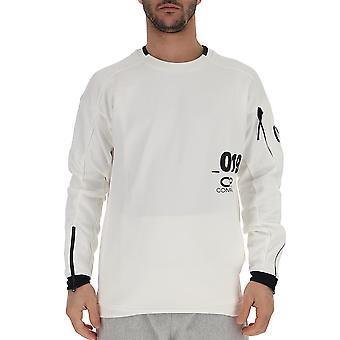 C.p. Company White Cotton Sweater