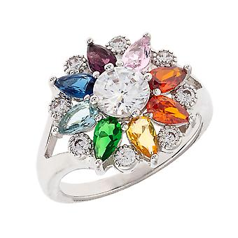 Bertha Juliet Collection Women's 18k WG Plated Fashion Ring Size 6