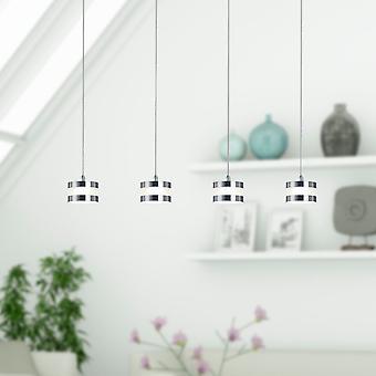 New Modern Ceiling Light 4 Pendant Hanging Chandelier Lamp Hallway Rectangular Canopy