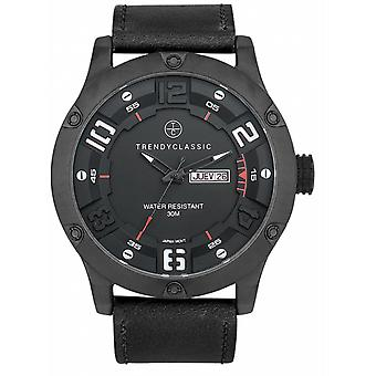 Watch Trendy Classic CC1041-20 d - watch leather black steel black man