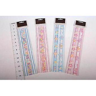 Arte-mestiere rottami prenotazione bordo adesivi - Baby - 8 confezioni di adesivi