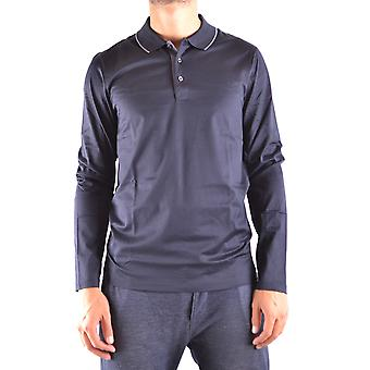 Hugo Boss Blue Cotton Polo Shirt