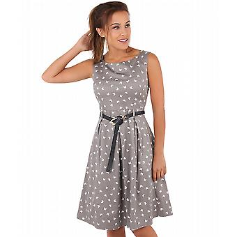 KRISP Vintage Pin Up Butterfly Dress