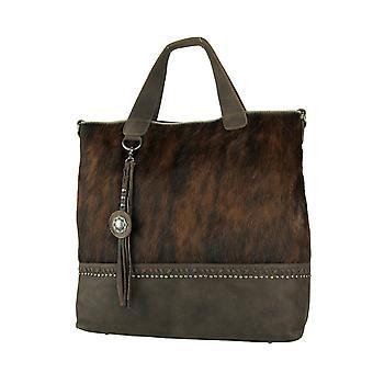 حقيبة يد من الجلد البني من مونتانا الغربية