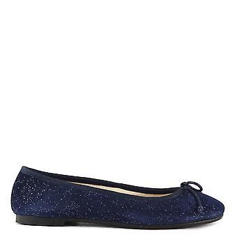 エリア B の靴ステファニア青コスモ スエード バレエ フラット